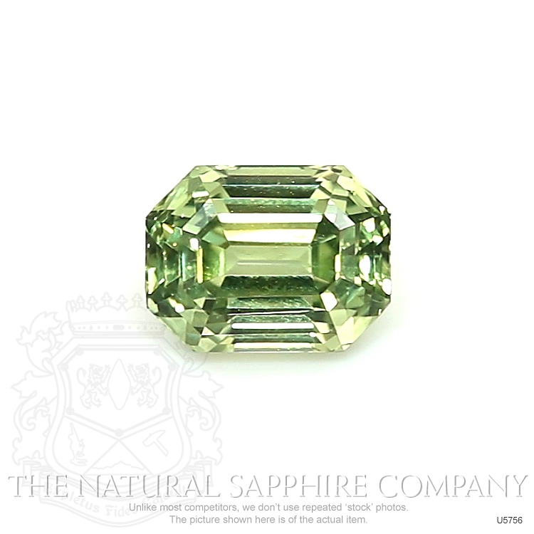 Natural Untreated Yellowish Green Sapphire U5756 Image
