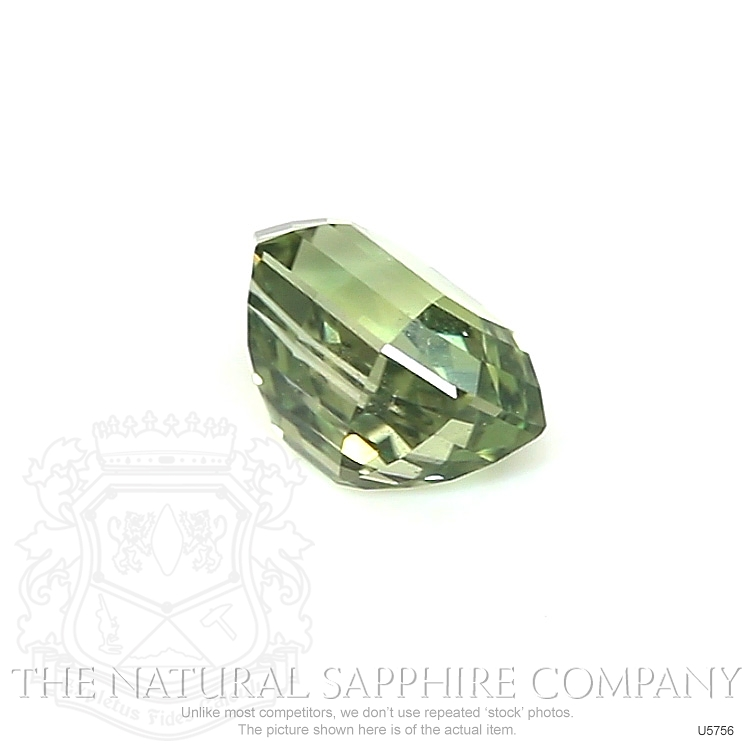 Natural Untreated Yellowish Green Sapphire U5756 Image 3