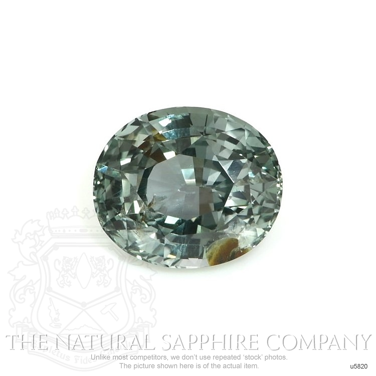 Natural Untreated Green Blue Sapphire U5820 Image