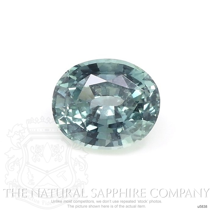 Natural Untreated Green Blue Sapphire U5838 Image