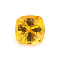 1.17ct Ceylon Cushion Orangish Yellow Sapphire - U5918