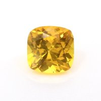 1.41ct Ceylon Cushion Orangish Yellow Sapphire - U5920
