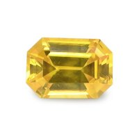 1.02ct Ceylon Emerald Cut Yellowish Brown Sapphire - U5921
