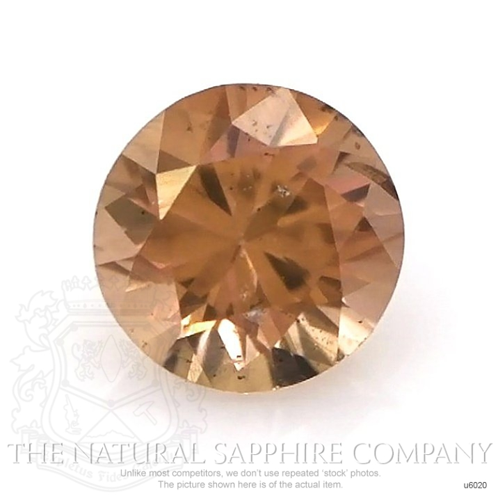 Natural Untreated Brownish Orange Sapphire U6020 Image