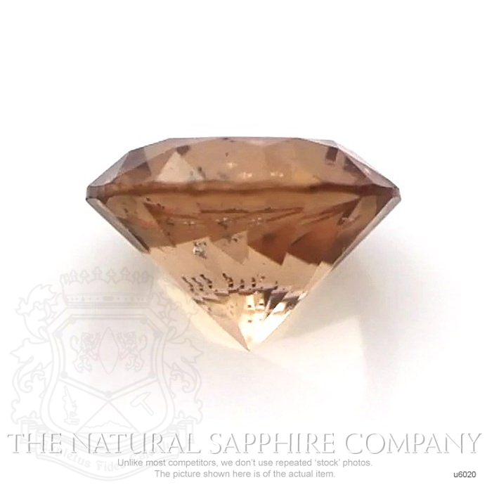 Natural Untreated Brownish Orange Sapphire U6020 Image 2