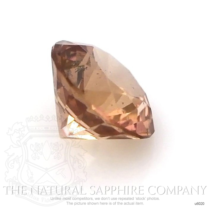 Natural Untreated Brownish Orange Sapphire U6020 Image 3