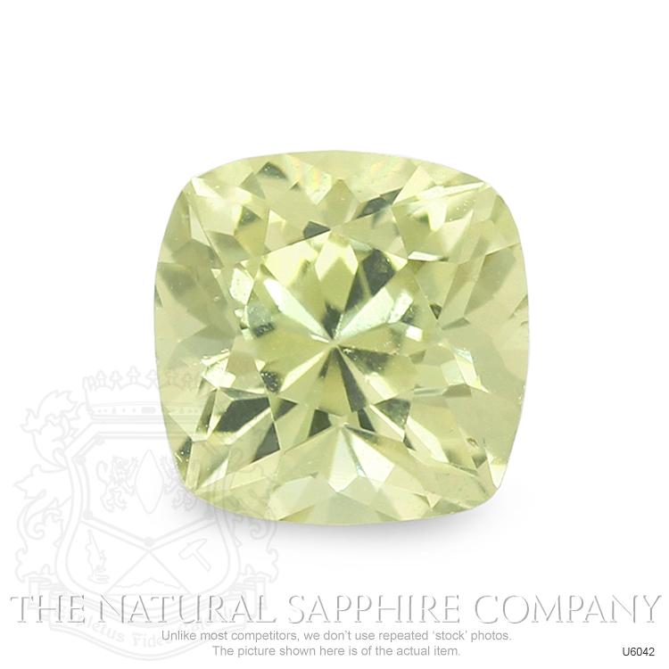 Natural Untreated Greenish Yellow Sapphire U6042 Image