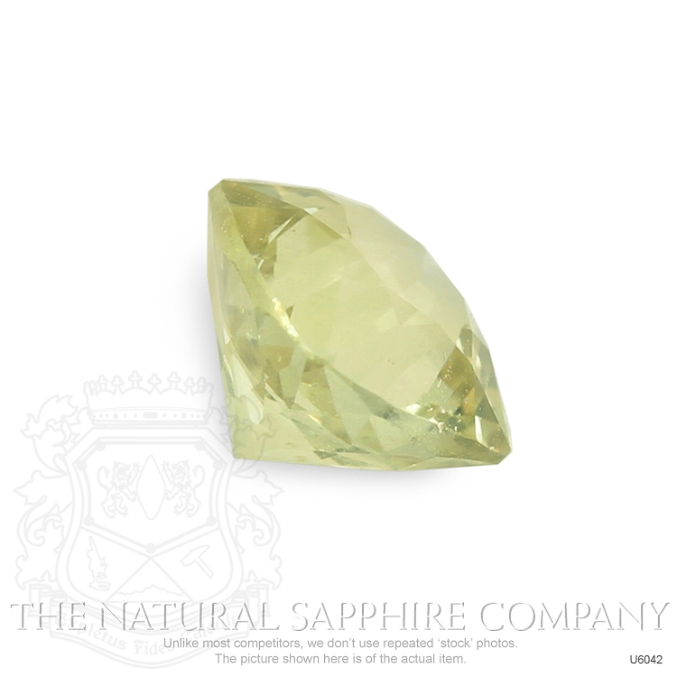 Natural Untreated Greenish Yellow Sapphire U6042 Image 3