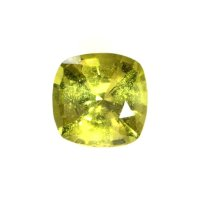 1.38ct Ceylon Cushion Yellowish Green Sapphire - U6043