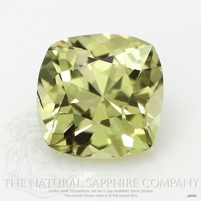 Natural Untreated Greenish Yellow Sapphire U6045 Image