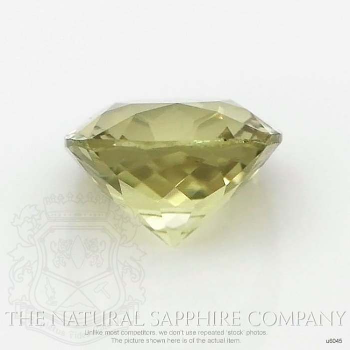 Natural Untreated Greenish Yellow Sapphire U6045 Image 2