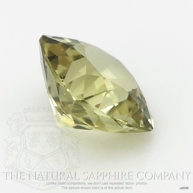 Natural Untreated Greenish Yellow Sapphire U6045 Image 3