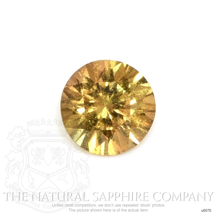 Natural Untreated Yellowish Brown Sapphire U6070 Image