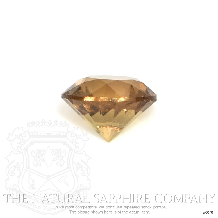 Natural Untreated Yellowish Brown Sapphire U6070 Image 2