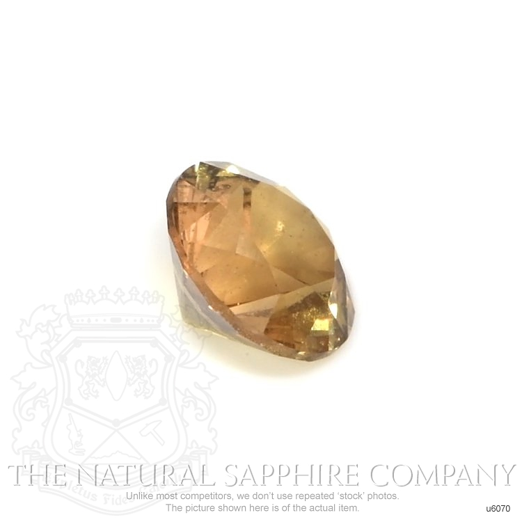 Natural Untreated Yellowish Brown Sapphire U6070 Image 3