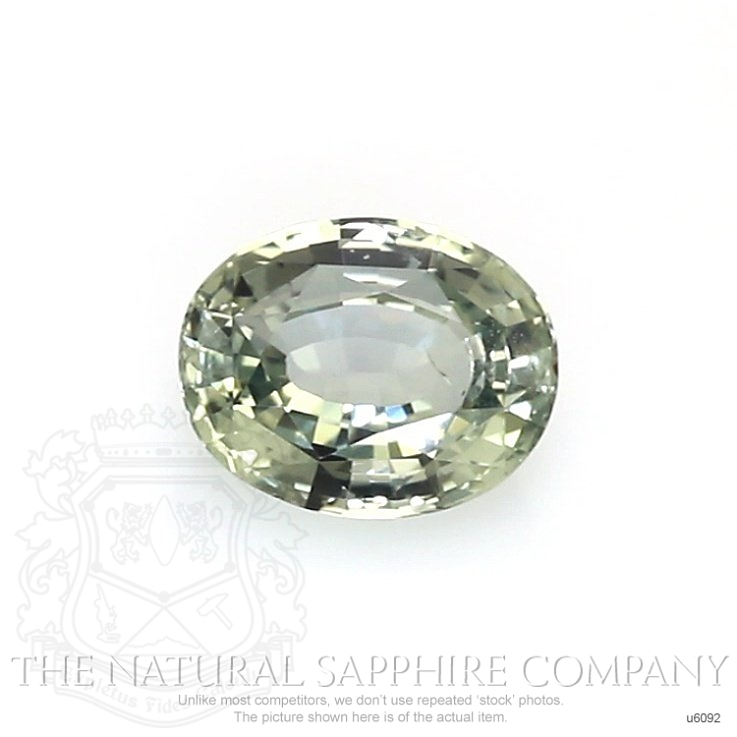 Natural Untreated Yellowish Green Sapphire U6092 Image