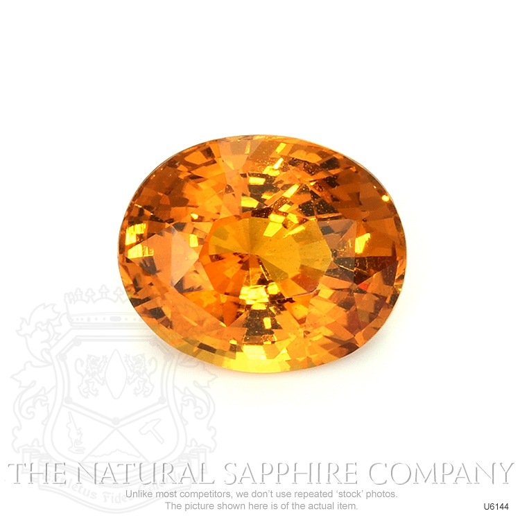 Natural Untreated Yellowish Orange Sapphire U6144 Image