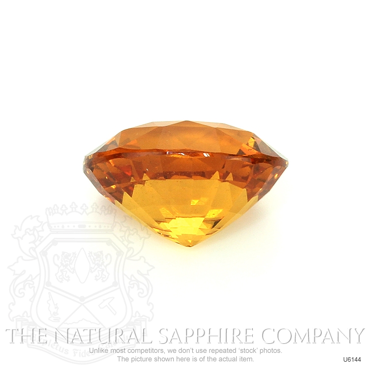 Natural Untreated Yellowish Orange Sapphire U6144 Image 2