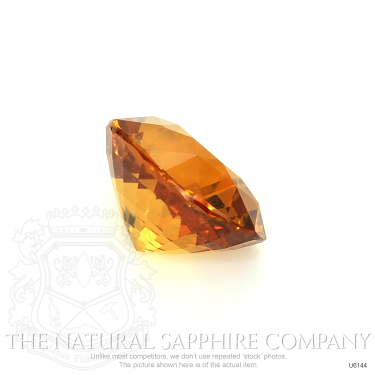 Natural Untreated Yellowish Orange Sapphire U6144 Image 3