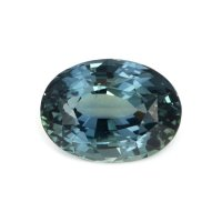 4.78ct Madagascar Oval Greenish Blue Sapphire - U6165