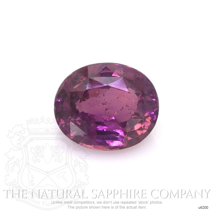 Natural Untreated Pinkish Purple Sapphire U6200 Image