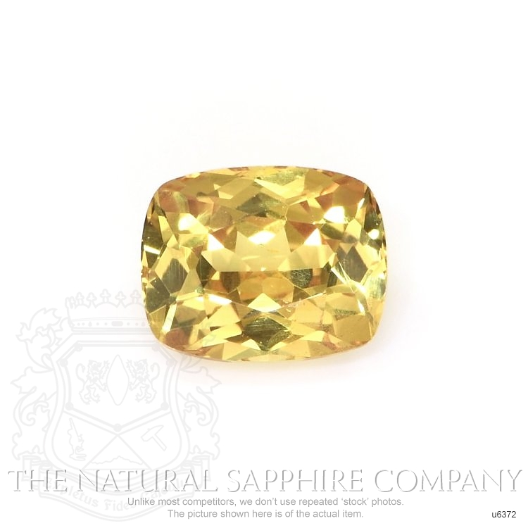Natural Untreated Yellow Sapphire U6372 Image