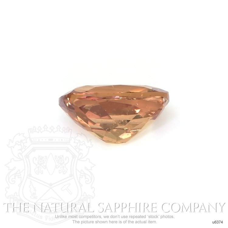 Natural Untreated Yellowish Orange Sapphire U6374 Image 2
