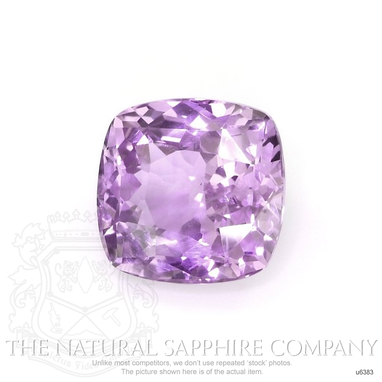 Natural Untreated Pinkish Purple Sapphire U6383 Image