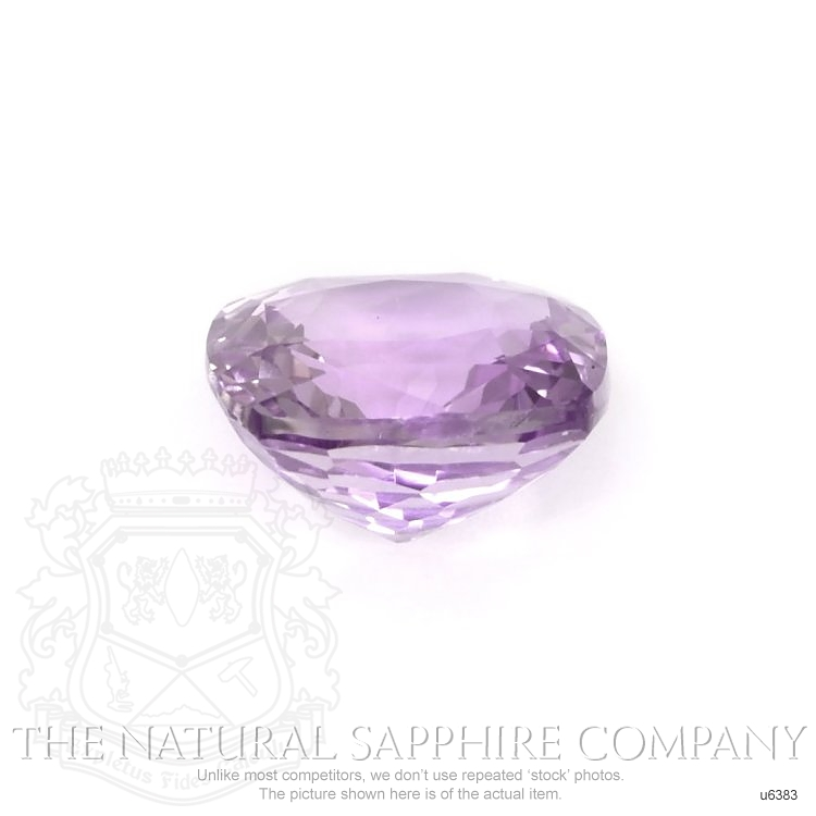 Natural Untreated Pinkish Purple Sapphire U6383 Image 2