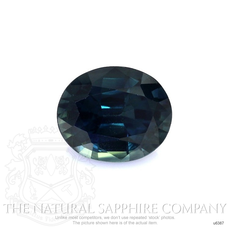 Natural Untreated Greenish Blue Sapphire U6387 Image