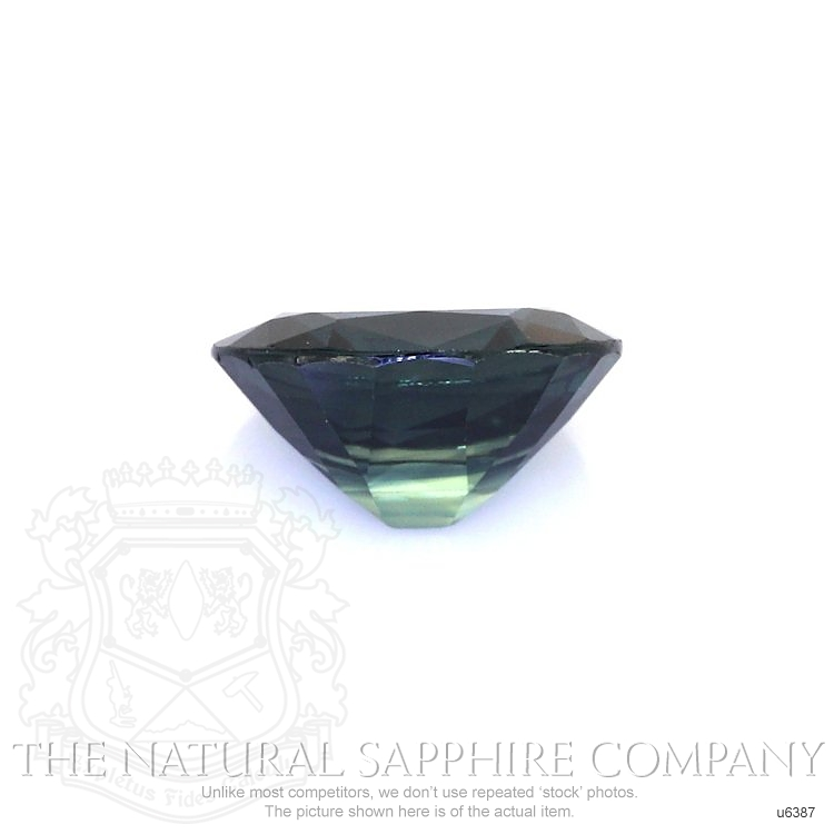Natural Untreated Greenish Blue Sapphire U6387 Image 2
