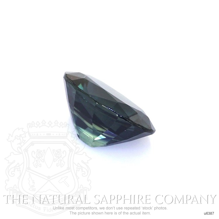 Natural Untreated Greenish Blue Sapphire U6387 Image 3