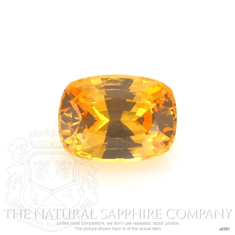 Natural Yellowish Orange Sapphire U6391 Image