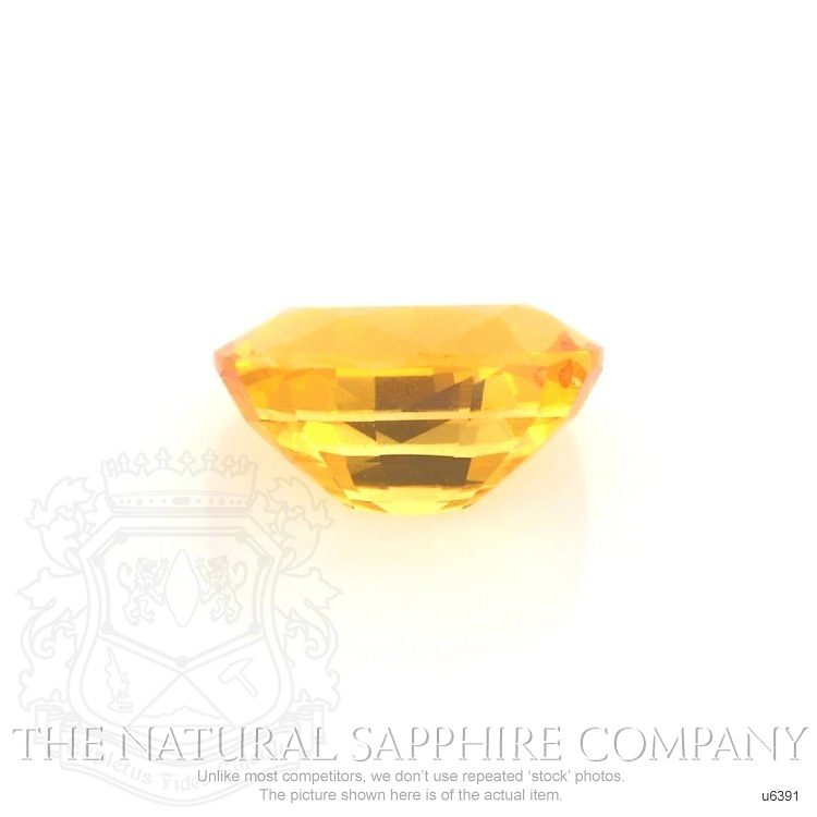 Natural Yellowish Orange Sapphire U6391 Image 2