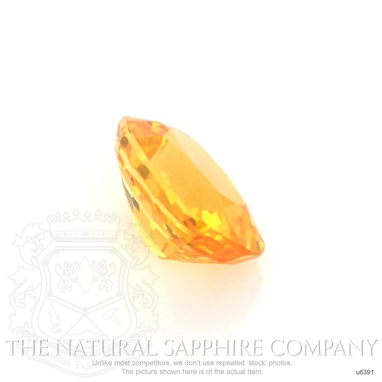 Natural Yellowish Orange Sapphire U6391 Image 3