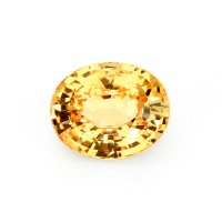 2.11ct Ceylon Oval Yellowish Orange Sapphire - U6401