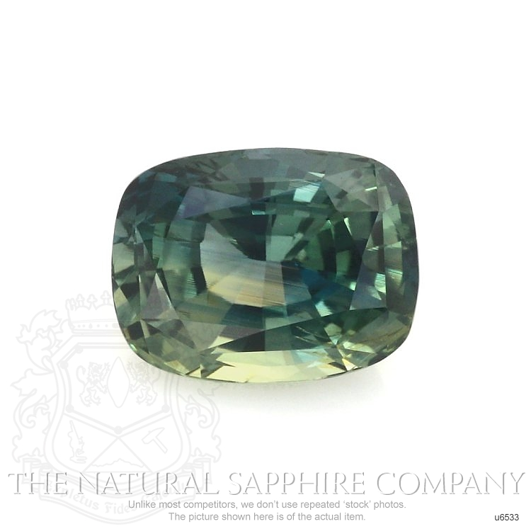 Natural Untreated Green Sapphire U6533 Image