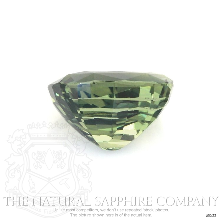 Natural Untreated Green Sapphire U6533 Image 2