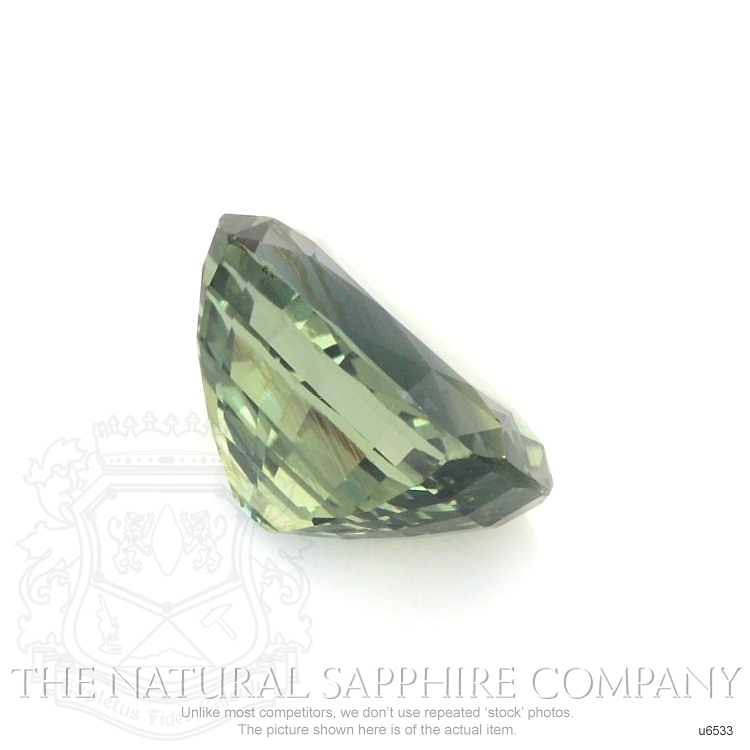 Natural Untreated Green Sapphire U6533 Image 3