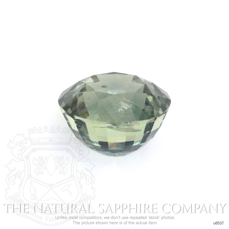Natural Untreated Green Sapphire U6537 Image 2