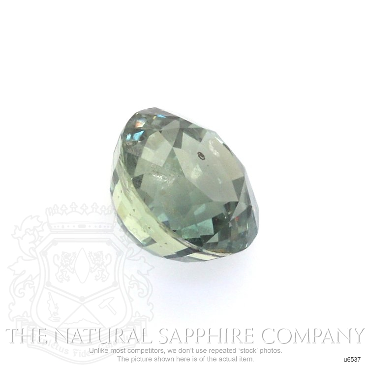 Natural Untreated Green Sapphire U6537 Image 3