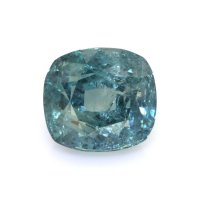 4.60ct Montana Cushion Greenish Blue Sapphire - U6547