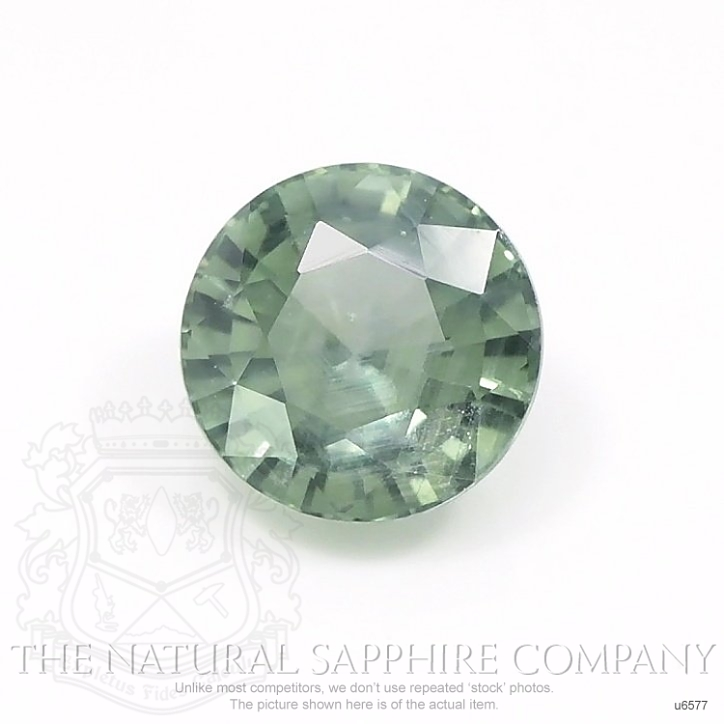 Natural Untreated Green Sapphire U6577 Image
