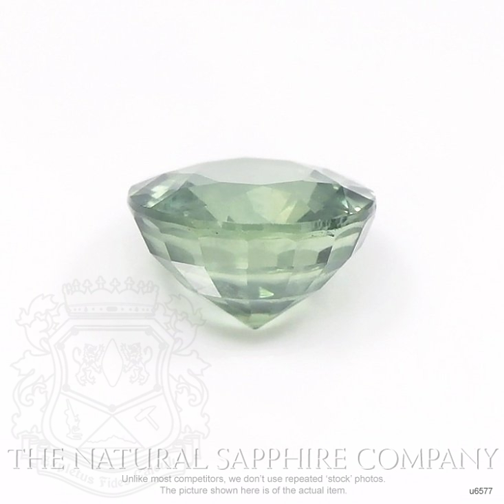 Natural Untreated Green Sapphire U6577 Image 2