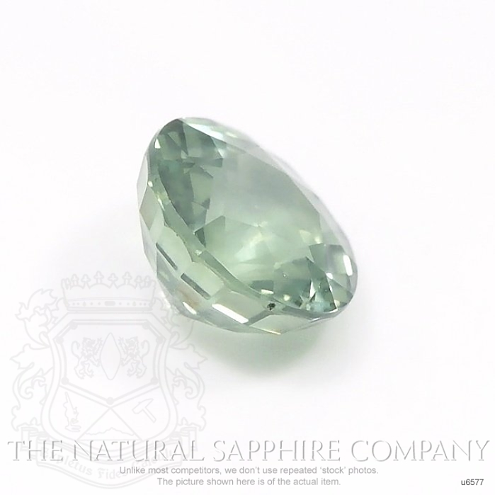 Natural Untreated Green Sapphire U6577 Image 3