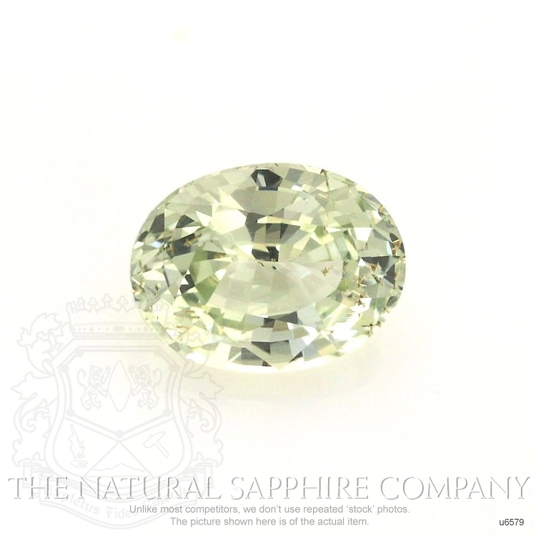 Natural Untreated Yellowish Green Sapphire U6579 Image