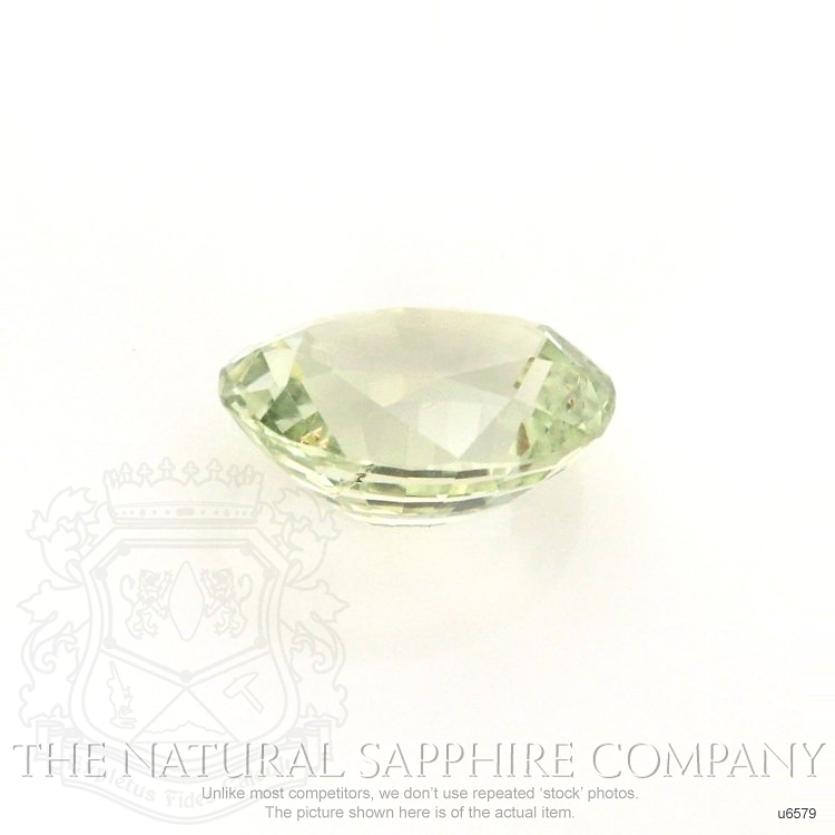Natural Untreated Yellowish Green Sapphire U6579 Image 2