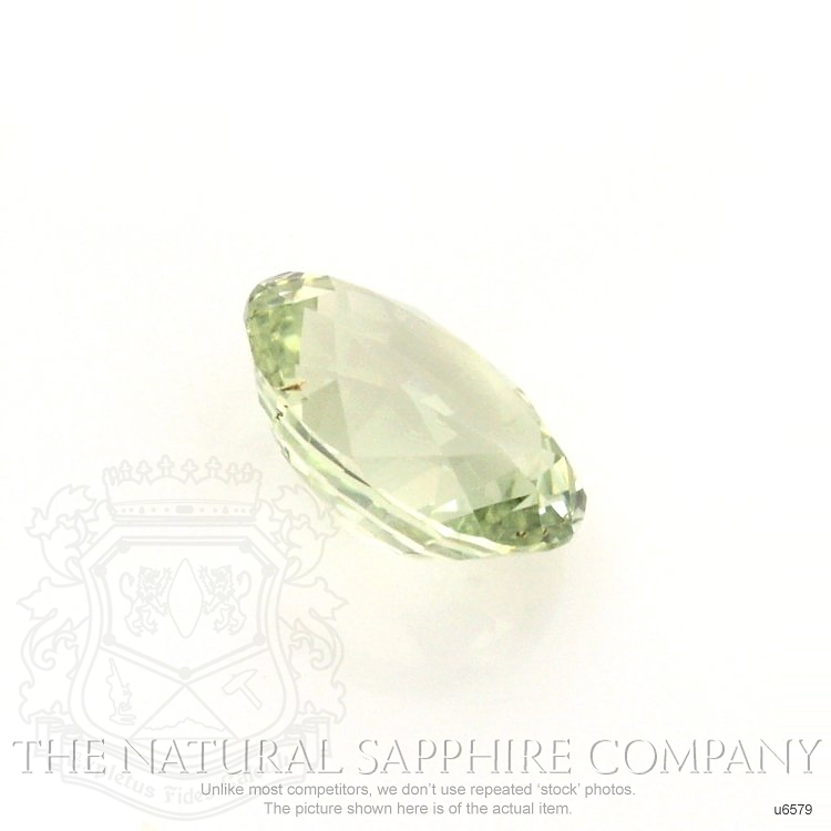 Natural Untreated Yellowish Green Sapphire U6579 Image 3