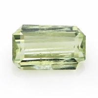 1.55ct Montana Emerald Cut Yellowish Green Sapphire - U6586
