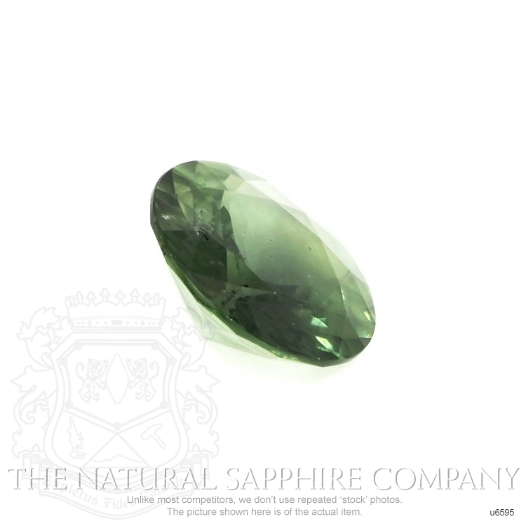 Natural Untreated Green Sapphire U6595 Image 3